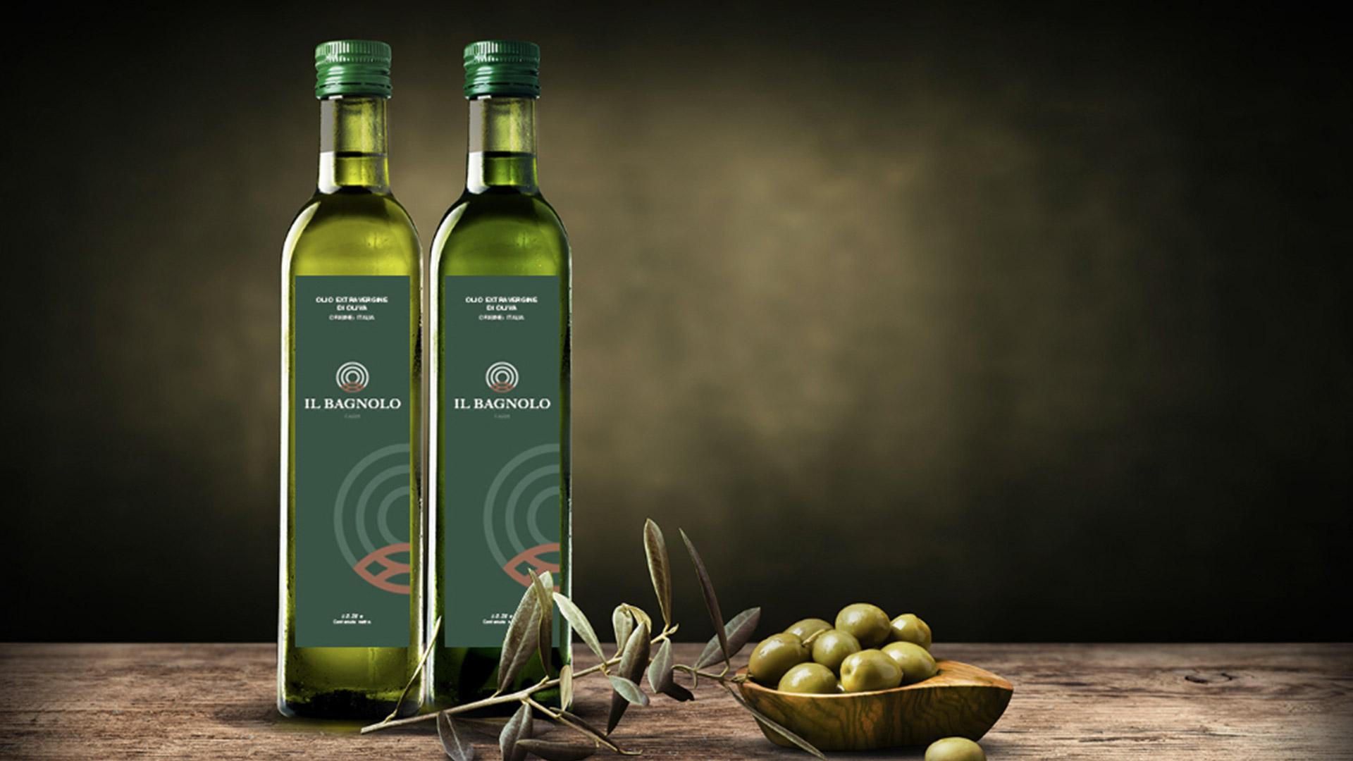 Etichette olio realizzate per Il Bagnolo Eco Lodge dall'agenzia di comunicazione Valenti04.