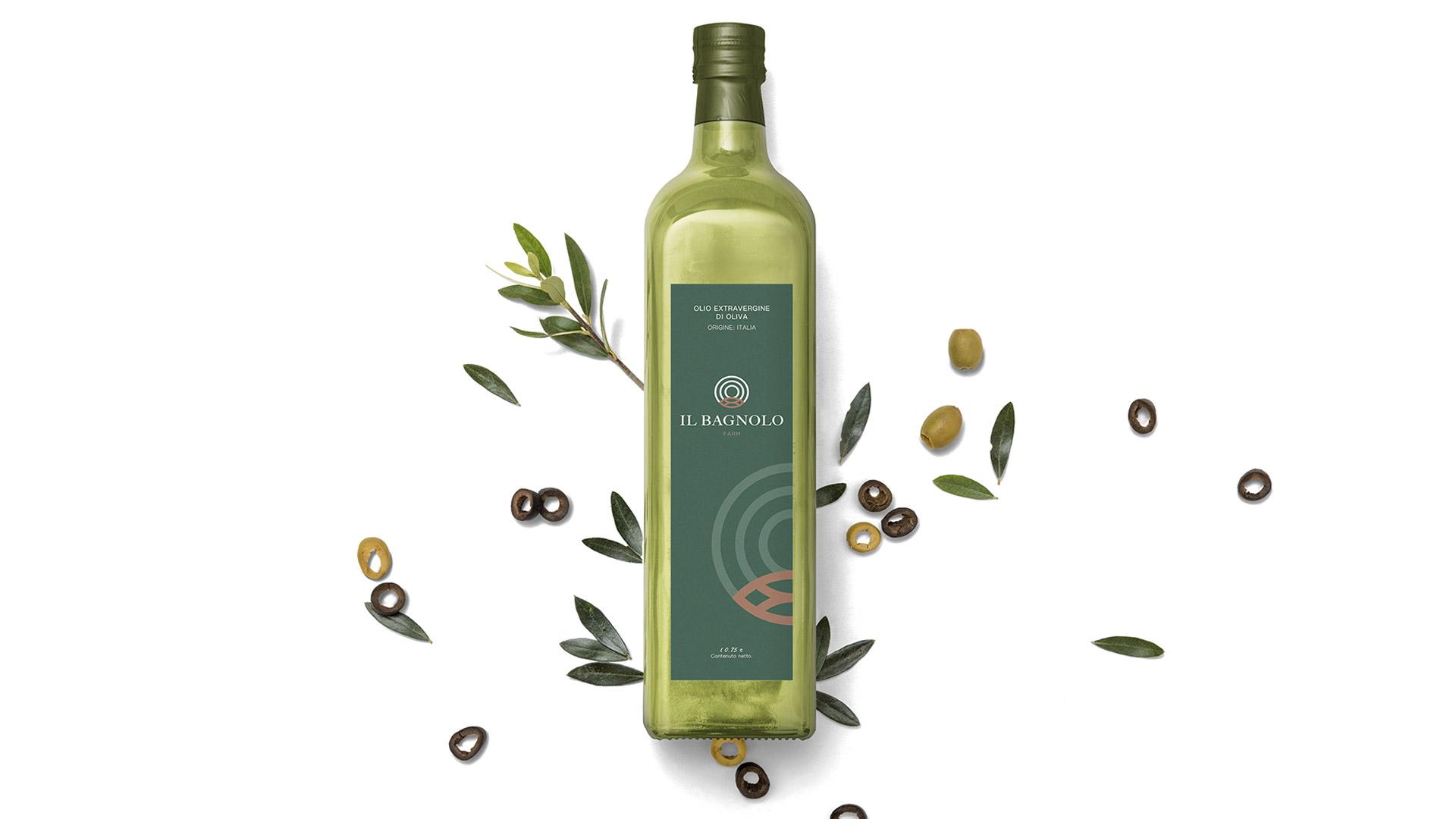 Etichetta olio realizzata dall'agenzia di comunicazione Valenti04 a Brescia