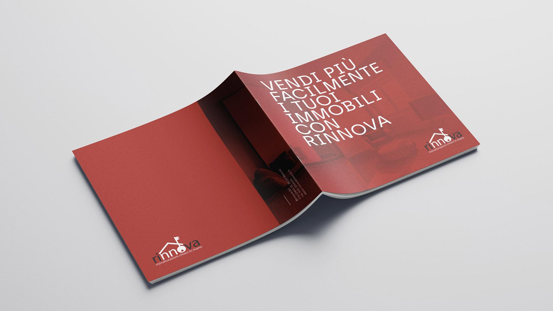 Copertina brochure immobiare realizzata da Valenti04