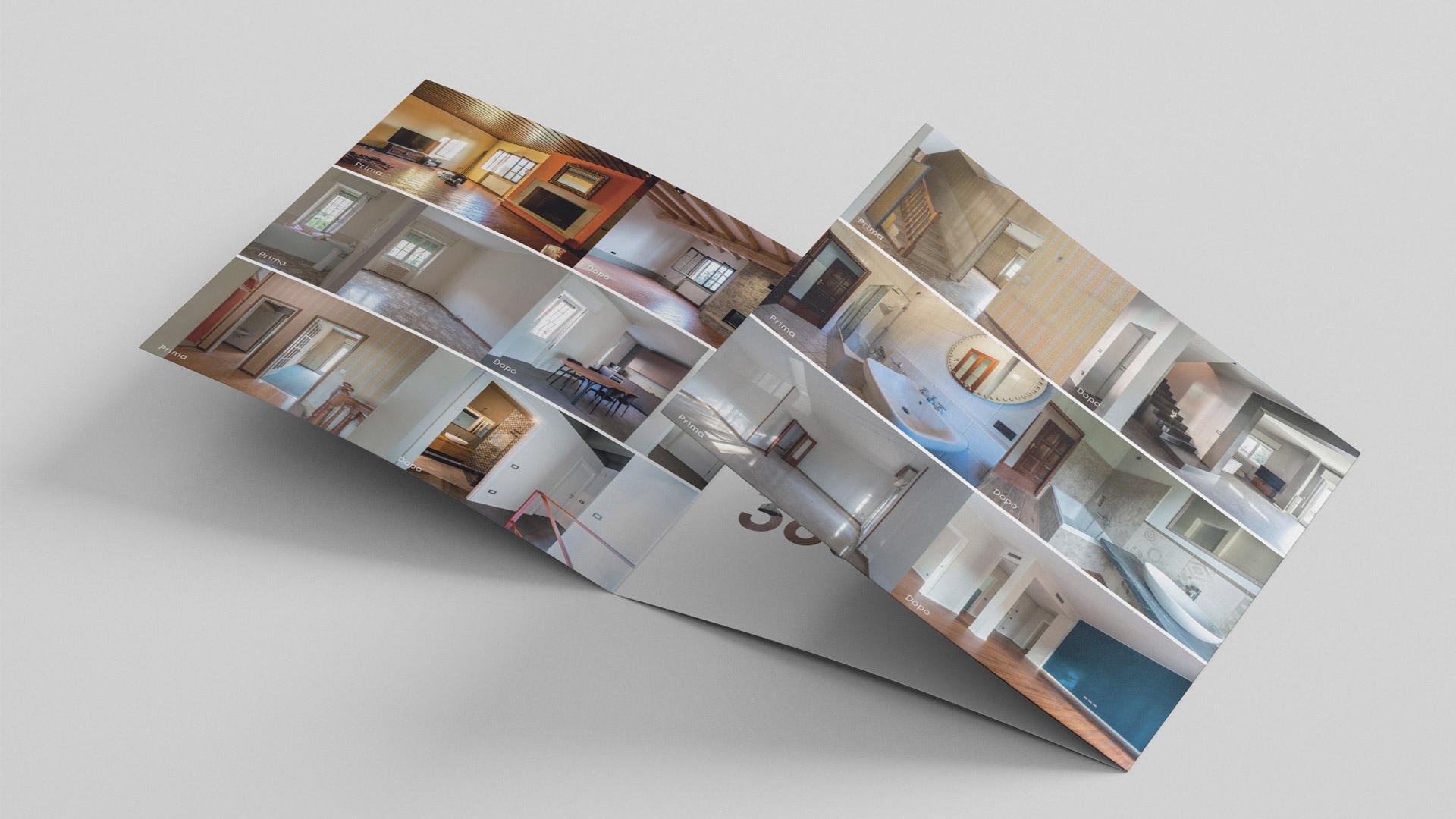 Pieghevole realizzato da Valenti04 per cliente settore ristrutturazioni e design.
